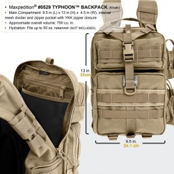 Mochila Maxpedition Typhoon Negra