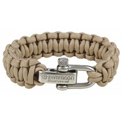 Pulsera Paracord 550 Pentagon 2.0 Survival Tan