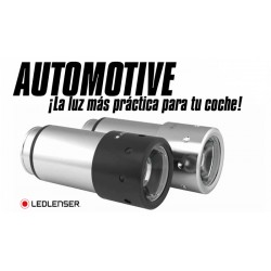 Linterna Led Lenser Automotive Acero Recargable 2016