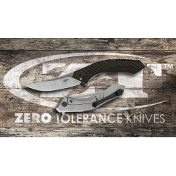 Navaja Zero Tolerance Titanio Framelock Carbono