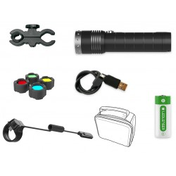 Linterna Led Lenser MT14 1000 Lumens Kit Caza Recargable