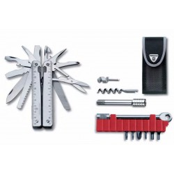 Alicate Multiusos Victorinox Swisstool Plus con Carraca y Funda de Nylon