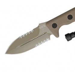 Cuchillo Microtech Crosshair Tan