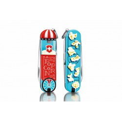 Victorinox - Navaja Suiza Multiusos Classic SD 2019 7 usos Let It Pop!