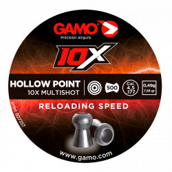 Balines Gamo 10X Hollow Point 4,5 mm 500 ud